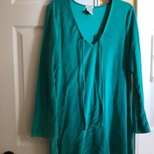 Old Navy Sea Foam Green Terry Cover Up Large